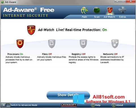 لقطة شاشة Ad-Aware لنظام التشغيل Windows 8.1