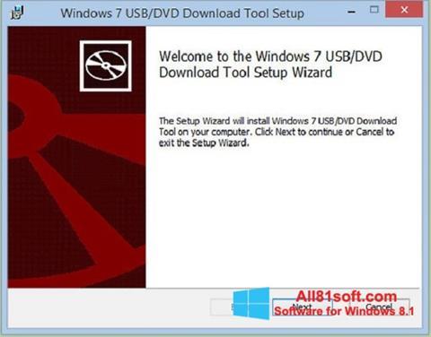 لقطة شاشة Windows 7 USB DVD Download Tool لنظام التشغيل Windows 8.1