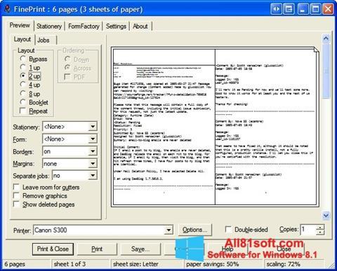 لقطة شاشة FinePrint لنظام التشغيل Windows 8.1