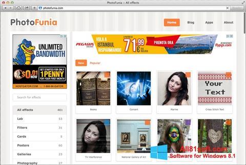 لقطة شاشة PhotoFunia لنظام التشغيل Windows 8.1