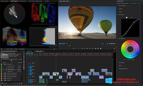 لقطة شاشة Adobe Premiere Pro لنظام التشغيل Windows 8.1