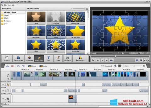 لقطة شاشة AVS Video Editor لنظام التشغيل Windows 8.1