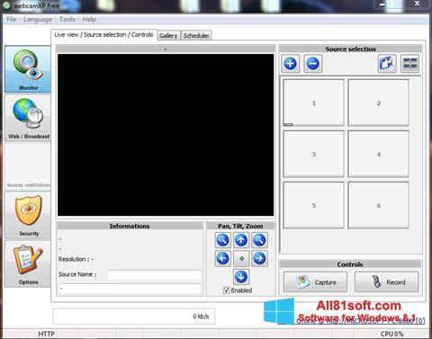 لقطة شاشة webcamXP لنظام التشغيل Windows 8.1