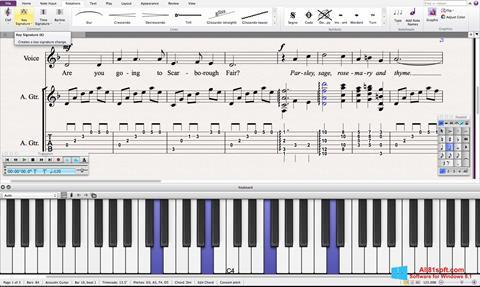 لقطة شاشة Sibelius لنظام التشغيل Windows 8.1