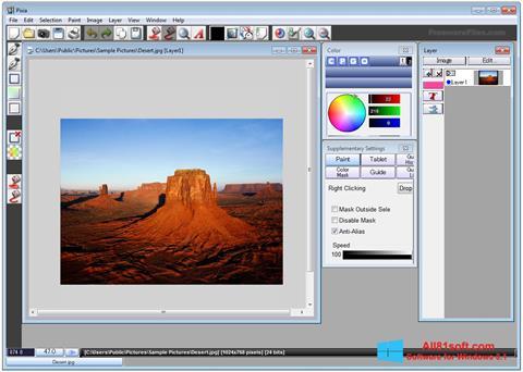 لقطة شاشة Pixia لنظام التشغيل Windows 8.1