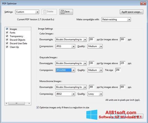 لقطة شاشة Adobe Acrobat Pro DC لنظام التشغيل Windows 8.1