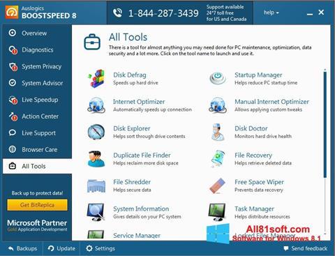 لقطة شاشة Auslogics BoostSpeed لنظام التشغيل Windows 8.1