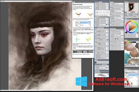 لقطة شاشة Corel Painter لنظام التشغيل Windows 8.1