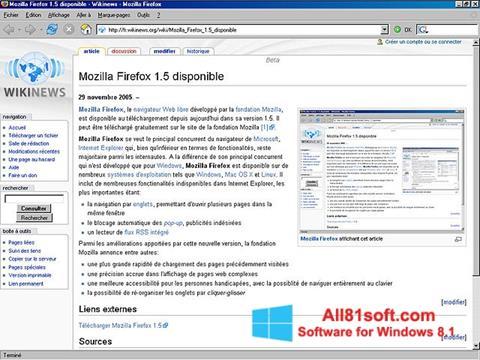 لقطة شاشة Mozilla Firefox لنظام التشغيل Windows 8.1