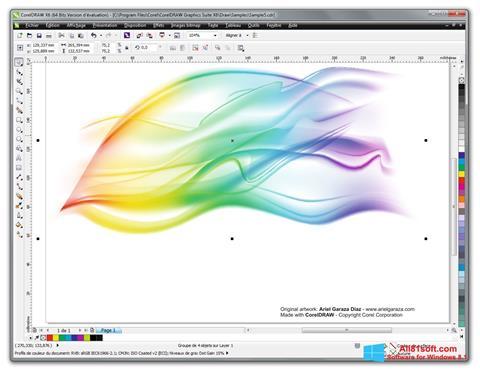 لقطة شاشة CorelDRAW لنظام التشغيل Windows 8.1
