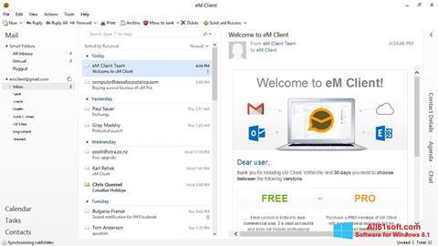 لقطة شاشة eM Client لنظام التشغيل Windows 8.1