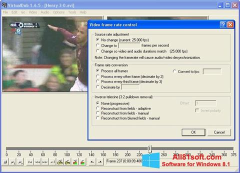 لقطة شاشة VirtualDubMod لنظام التشغيل Windows 8.1