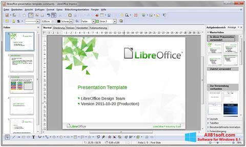 لقطة شاشة LibreOffice لنظام التشغيل Windows 8.1
