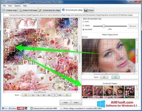 لقطة شاشة Photo Collage Maker لنظام التشغيل Windows 8.1