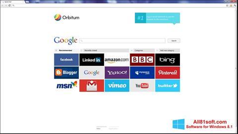 لقطة شاشة Orbitum لنظام التشغيل Windows 8.1