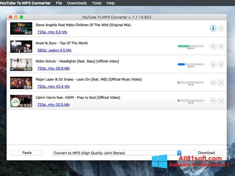 لقطة شاشة Free YouTube to MP3 Converter لنظام التشغيل Windows 8.1