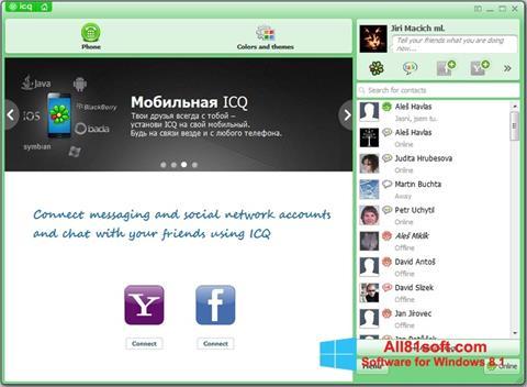 لقطة شاشة ICQ لنظام التشغيل Windows 8.1
