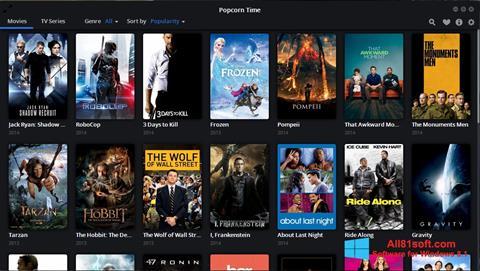 لقطة شاشة Popcorn Time لنظام التشغيل Windows 8.1
