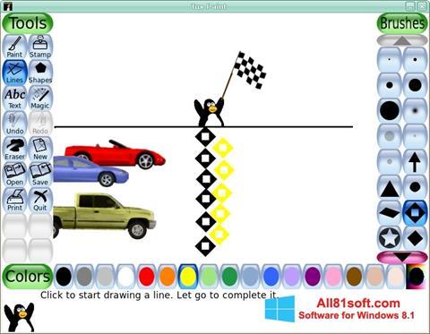 لقطة شاشة Tux Paint لنظام التشغيل Windows 8.1