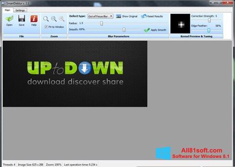 لقطة شاشة SmartDeblur لنظام التشغيل Windows 8.1