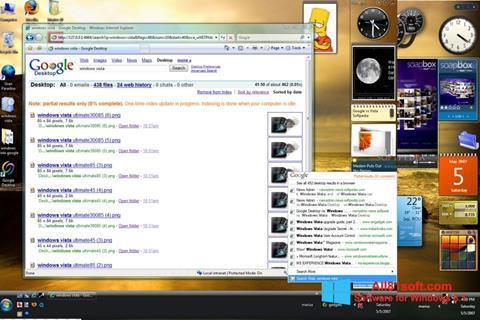 لقطة شاشة Google Desktop لنظام التشغيل Windows 8.1