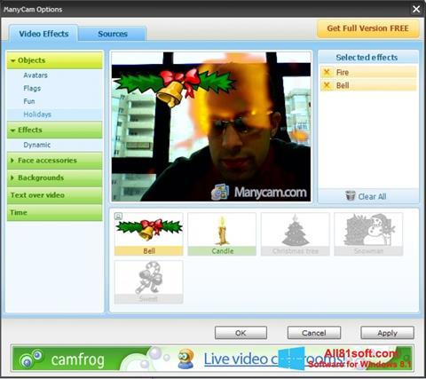 لقطة شاشة ManyCam لنظام التشغيل Windows 8.1