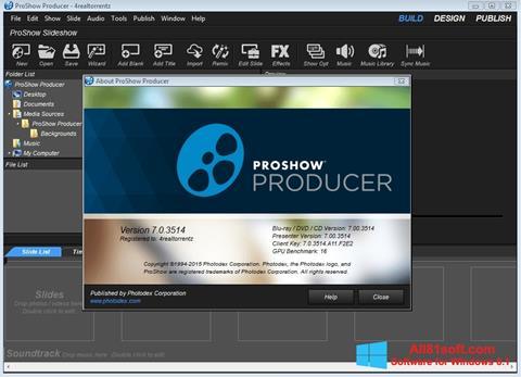 لقطة شاشة ProShow Producer لنظام التشغيل Windows 8.1