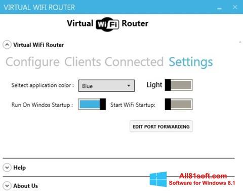 لقطة شاشة Virtual WiFi Router لنظام التشغيل Windows 8.1