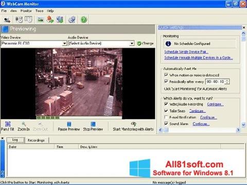 لقطة شاشة WebCam Monitor لنظام التشغيل Windows 8.1