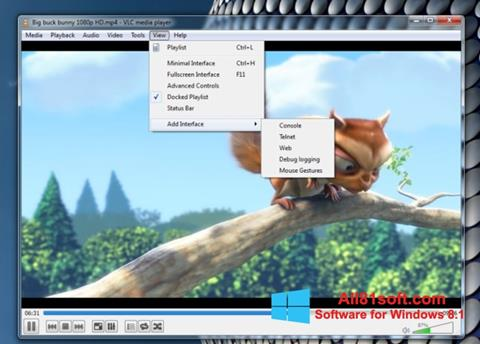 لقطة شاشة VLC Media Player لنظام التشغيل Windows 8.1