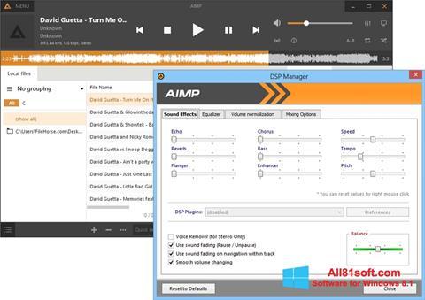 لقطة شاشة AIMP لنظام التشغيل Windows 8.1