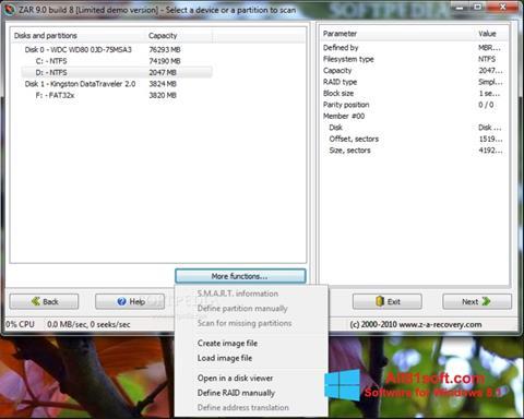 لقطة شاشة Zero Assumption Recovery لنظام التشغيل Windows 8.1