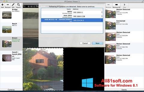 لقطة شاشة IP Camera Viewer لنظام التشغيل Windows 8.1