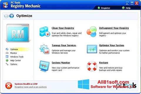 لقطة شاشة Registry Mechanic لنظام التشغيل Windows 8.1