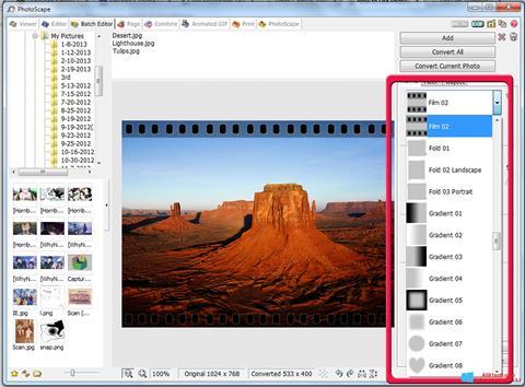 لقطة شاشة PhotoScape لنظام التشغيل Windows 8.1