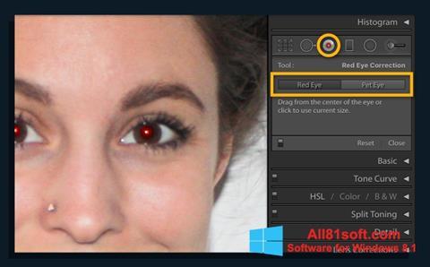 لقطة شاشة Red Eye Remover لنظام التشغيل Windows 8.1