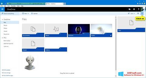 لقطة شاشة OneDrive لنظام التشغيل Windows 8.1