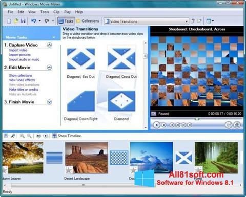 لقطة شاشة Windows Movie Maker لنظام التشغيل Windows 8.1