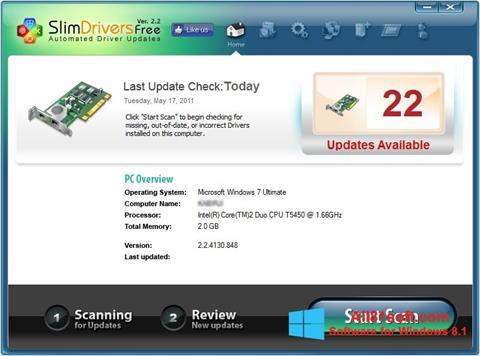لقطة شاشة SlimDrivers لنظام التشغيل Windows 8.1