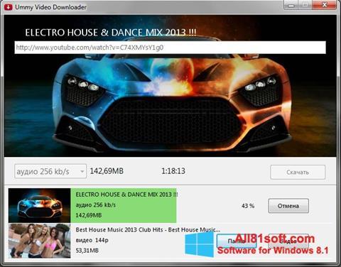 لقطة شاشة Ummy Video Downloader لنظام التشغيل Windows 8.1