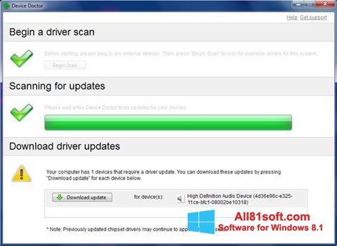 لقطة شاشة Device Doctor لنظام التشغيل Windows 8.1