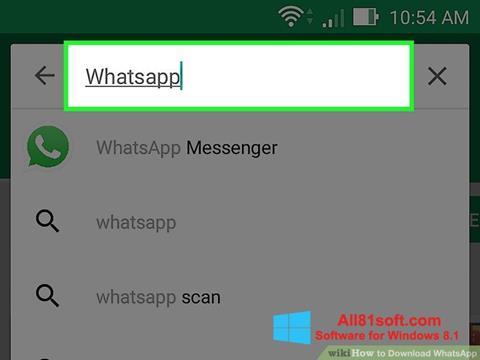 لقطة شاشة WhatsApp لنظام التشغيل Windows 8.1