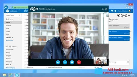 لقطة شاشة Skype لنظام التشغيل Windows 8.1